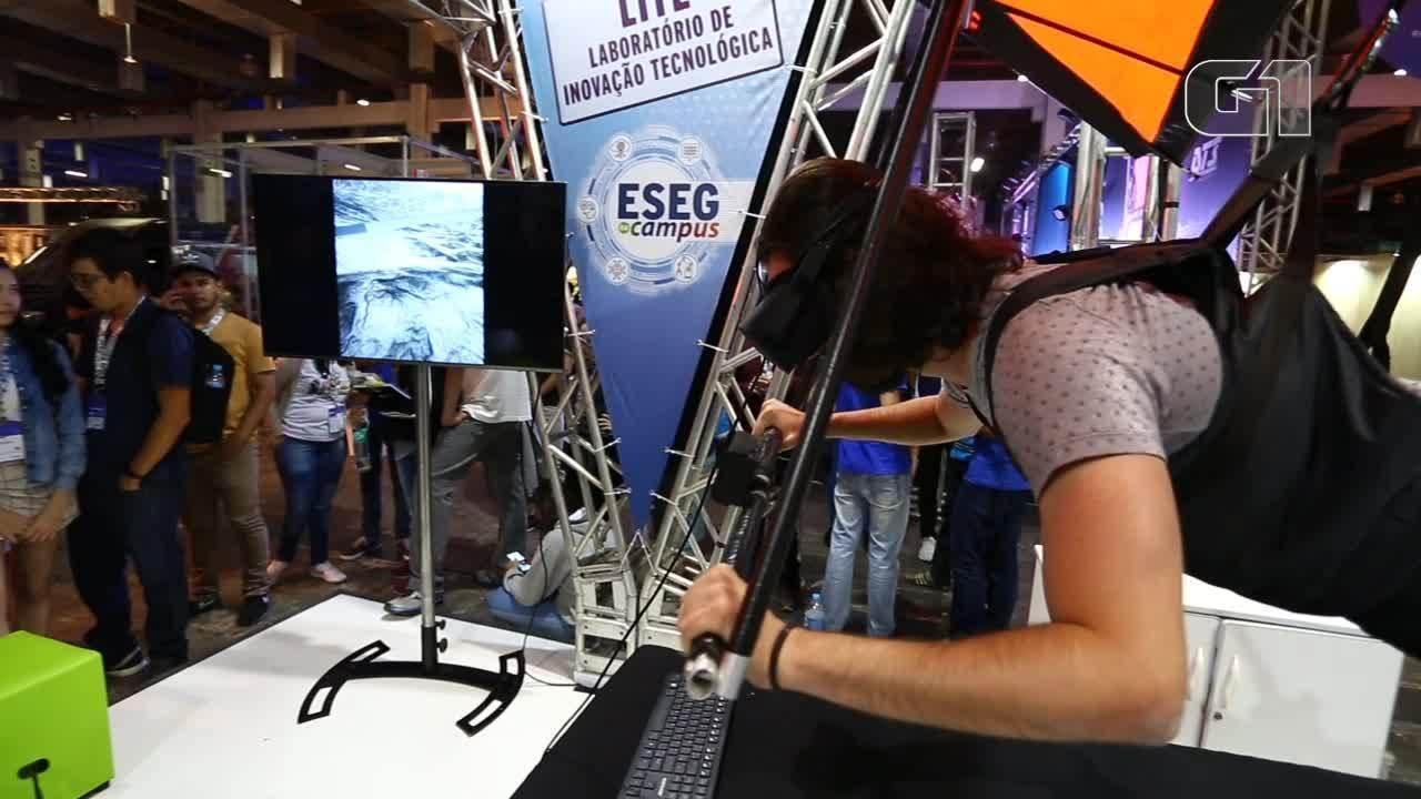 Asa delta e andar no precipício: veja experiências de realidade virtual na Campus Party