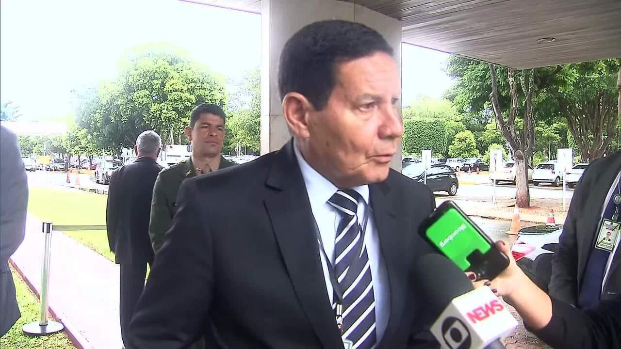 De hoje não passa', diz Mourão sobre definição do caso Bebianno ...