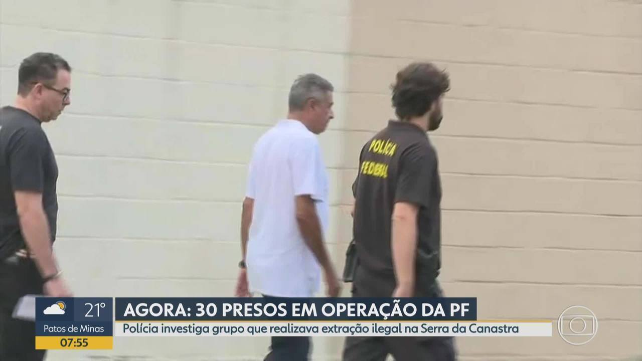 PF prende em BH homem suspeito de envolvimento em extração ilegal de quartzito