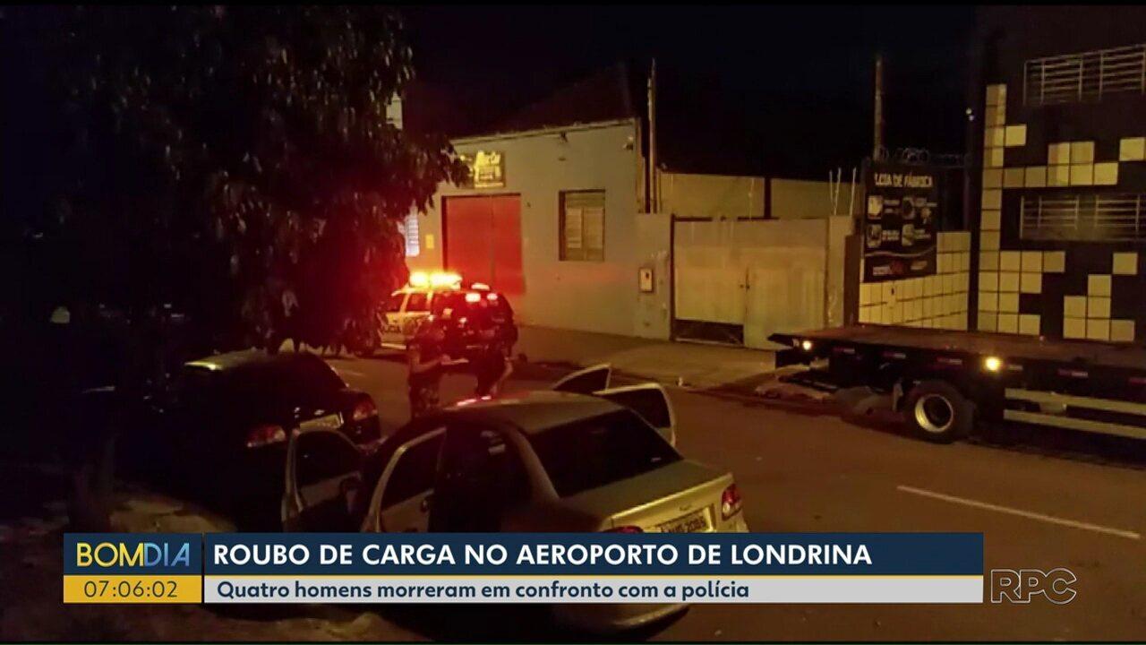 Quatro homens morreram em confronto com a polícia