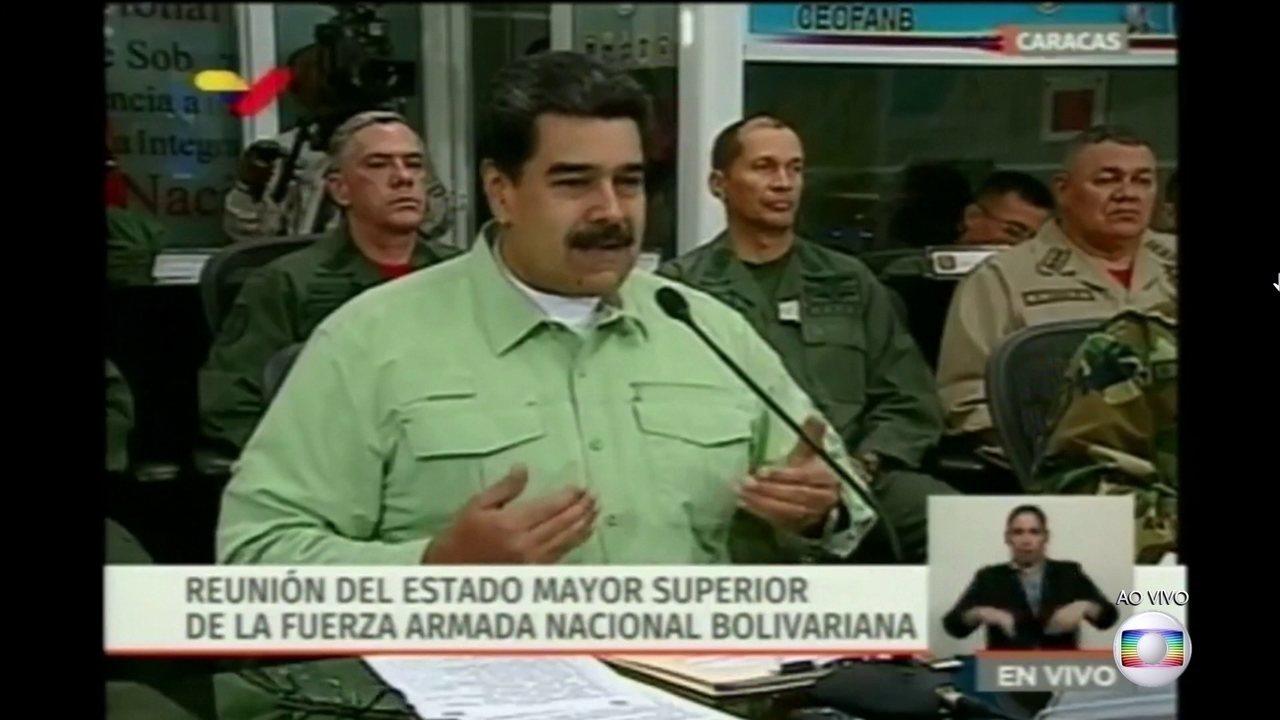 Boletim: Maduro anuncia que o governo vai fechar a fronteira da Venezuela com Brasil