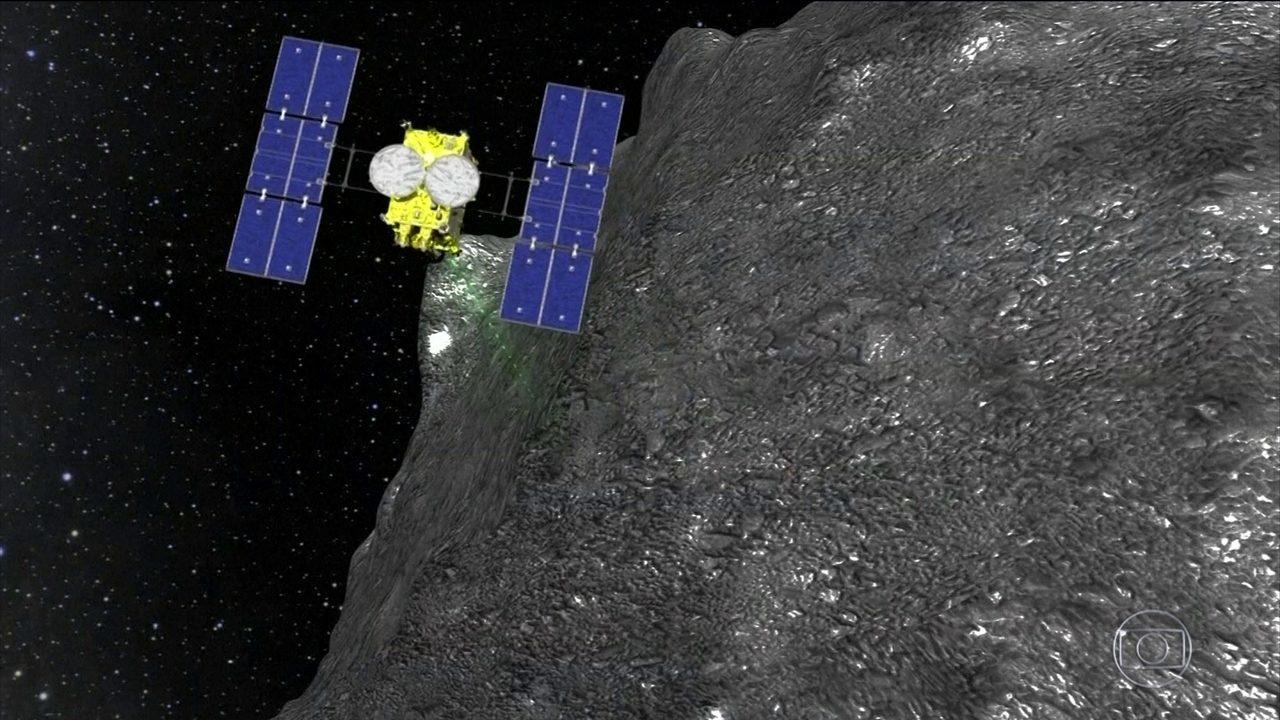 Sonda japonesa recolhe amostras de asteroide próximo à Terra