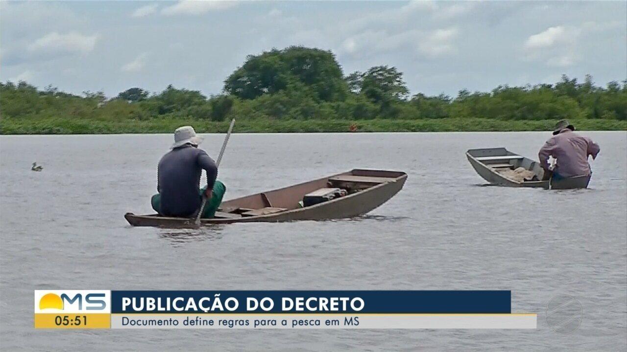 Governo publica decreto definindo regras para a pesca em rios de MS em 2019