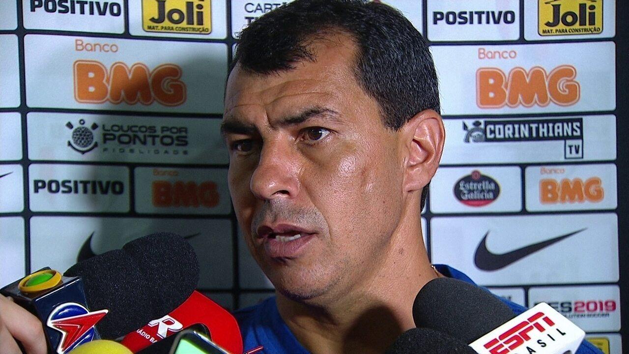 Veja a coletiva de Fábio Carille depois da vitória do Corinthians contra o Botafogo-SP