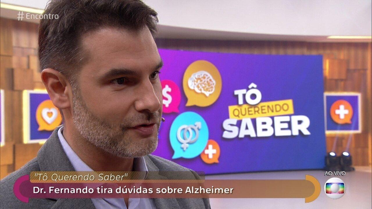 Dr. Fernando tira dúvidas da plateia sobre Alzheimer