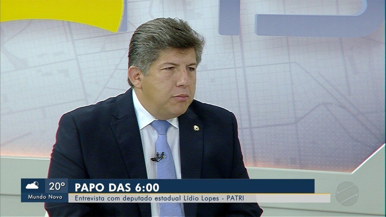 Deputado estadual Lídio Lopes (Patri) é o entrevistado desta quarta do Papo das 6