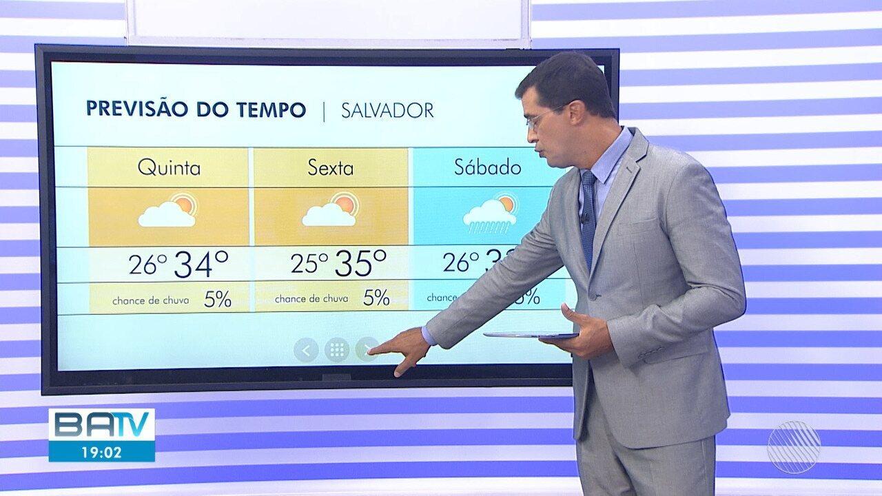 Previsão do tempo: primeiro dia de carnaval será de calor e sol forte em Salvador