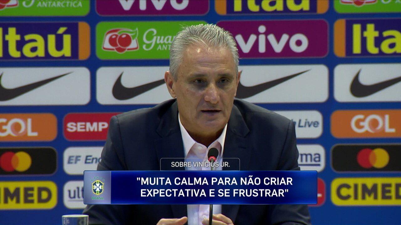 Tite fala sobre evolução de Vinicius Junior no Real Madrid