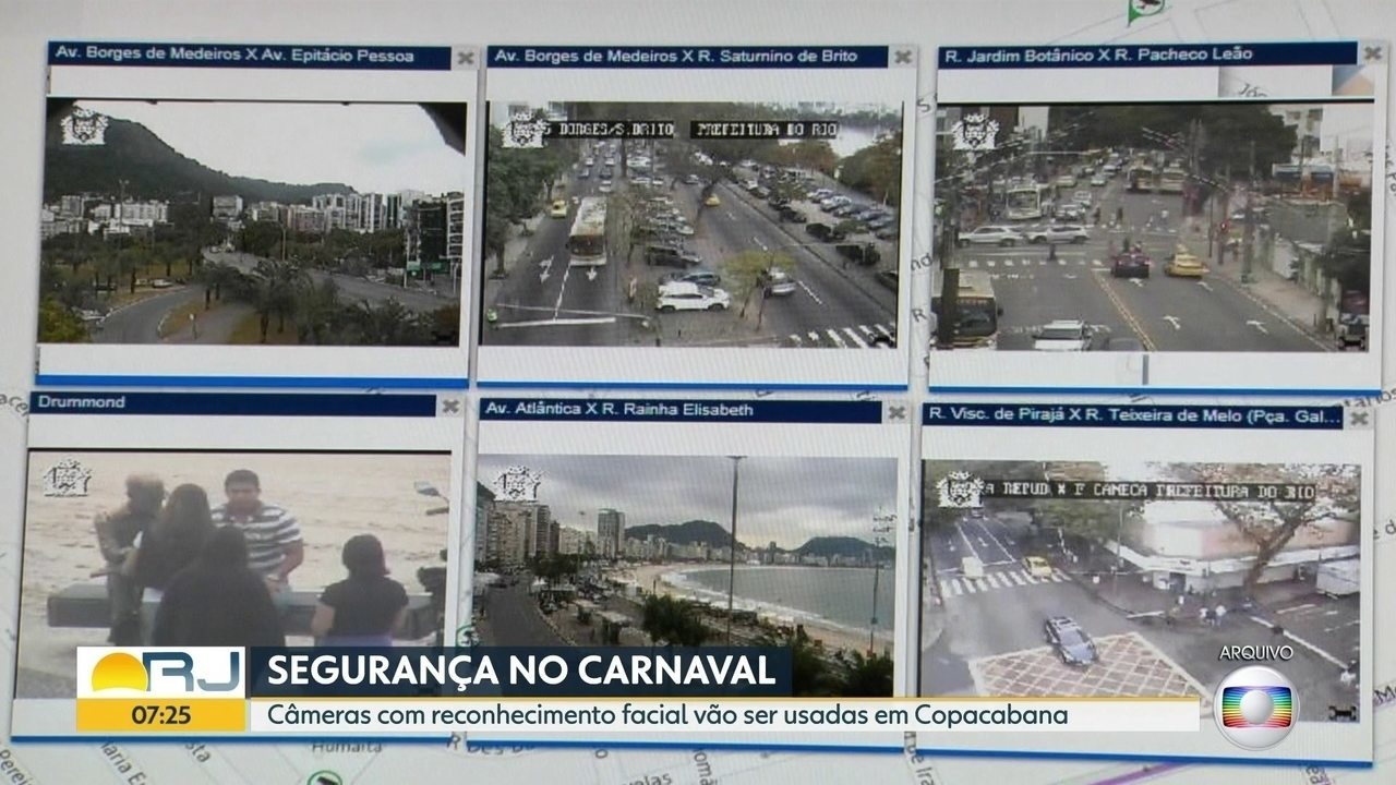 Folia mais segura: Câmeras com reconhecimento facial serão usadas em Copacabana
