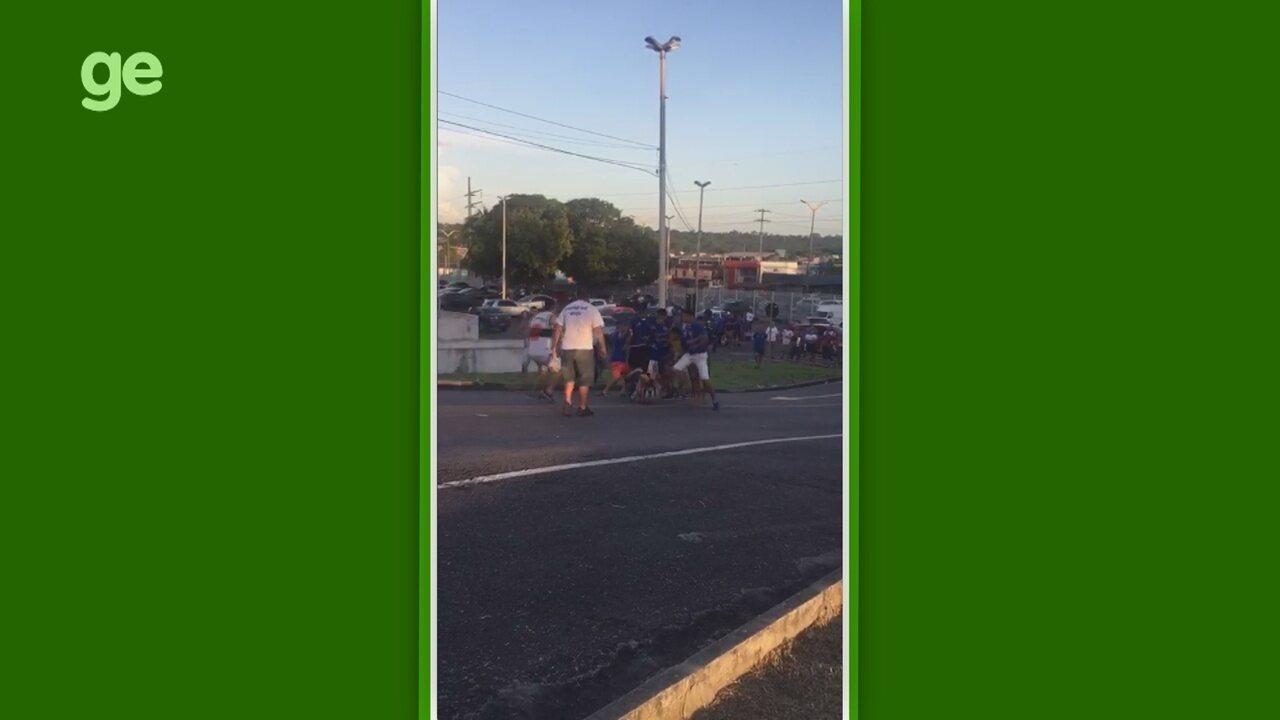 Trocedores de Rio Negro e Nacional entram em conflito no estacionamento do Carlos Zamith
