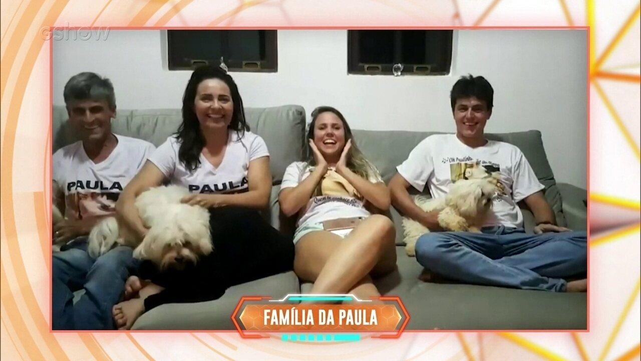 Família da Paula do BBB19 manda notícias da porca Pippa