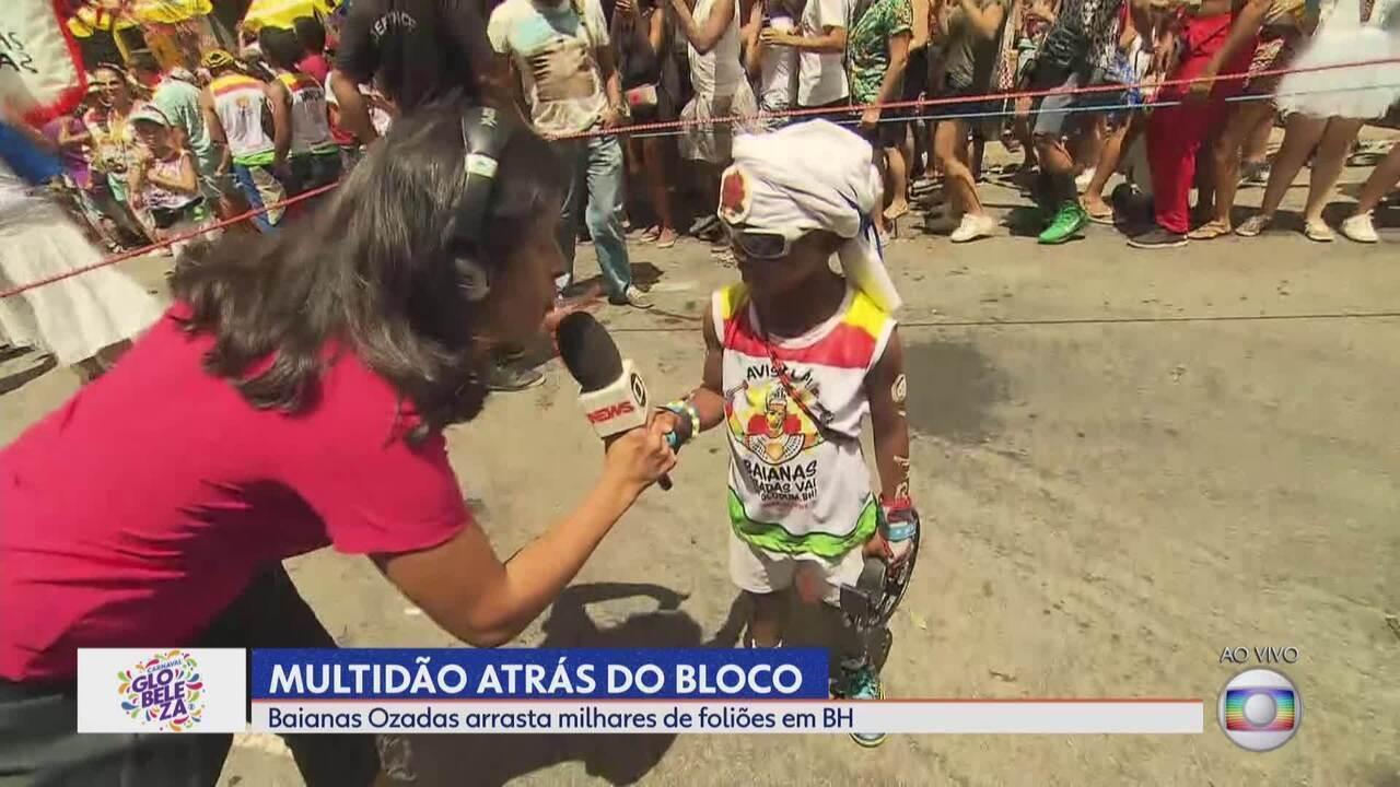 Fofura mirim arrasa no bloco Baianas Ozadas em Belo Horizonte