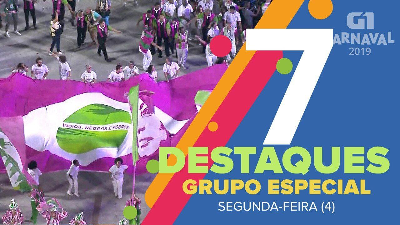 G1 destaca 7 momentos marcantes do desfile desta segunda-feira (4) na Sapucaí