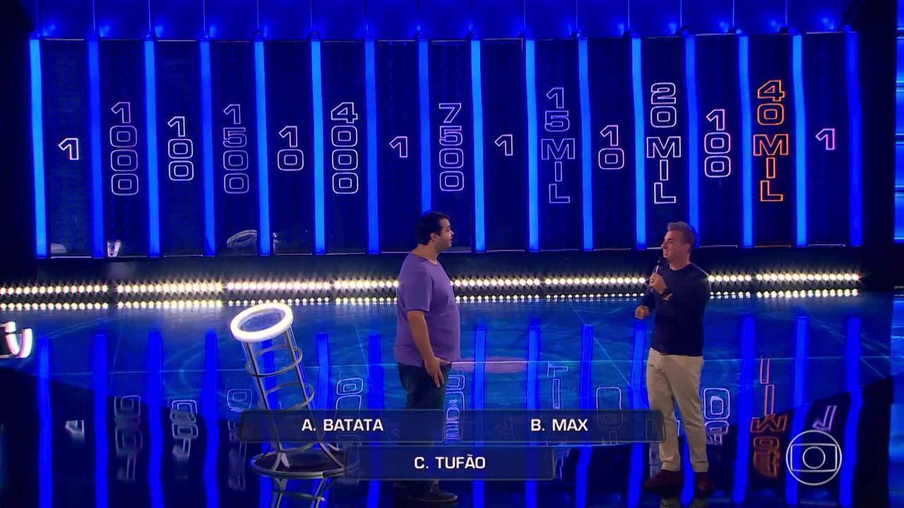 Alcimar tenta acertar perguntas na segunda rodada do 'The Wall'