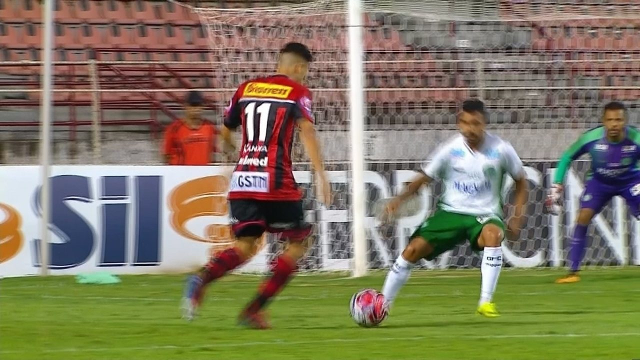 Gol do Ituano! Martinelli chuta colocado e marca bonito gol, aos 12 do 2º tempo