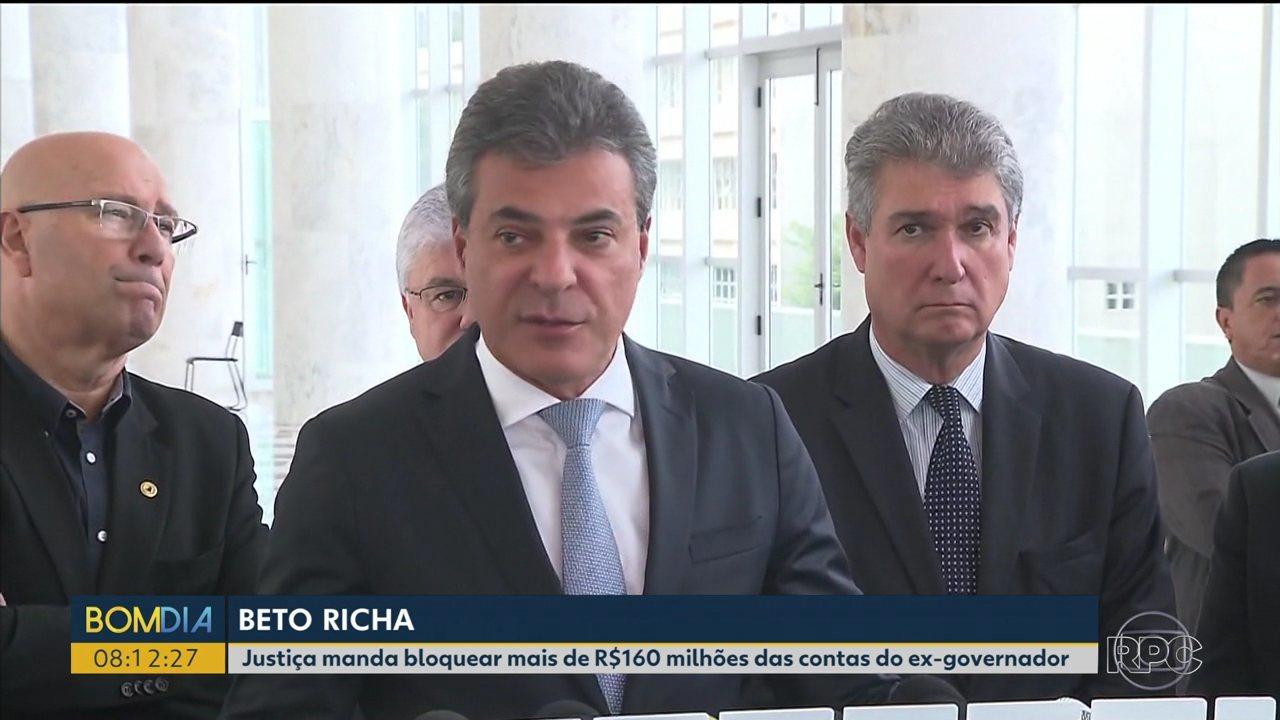 Justiça manda bloquear mais de R$160 milhões das contas do ex-governador