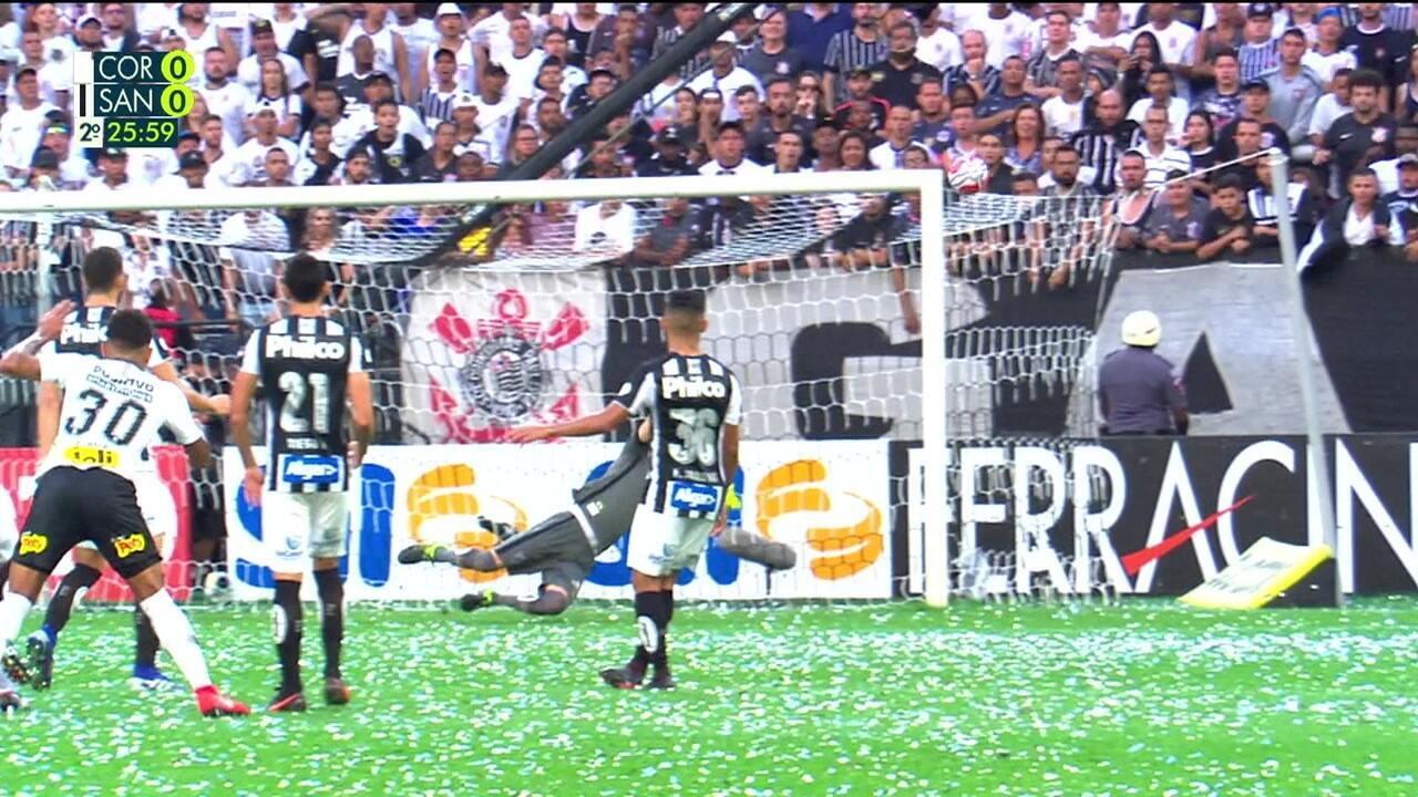 Melhores momentos: Corinthians 0 x 0 Santos pelo Campeonato Paulista 2019