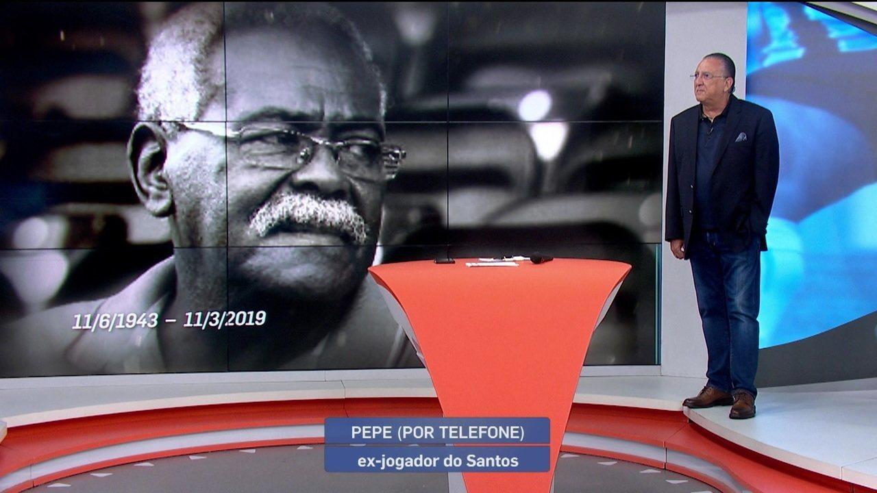Pepe fala ao vivo no Bem, Amigos! E Galvão homenageia Coutinho
