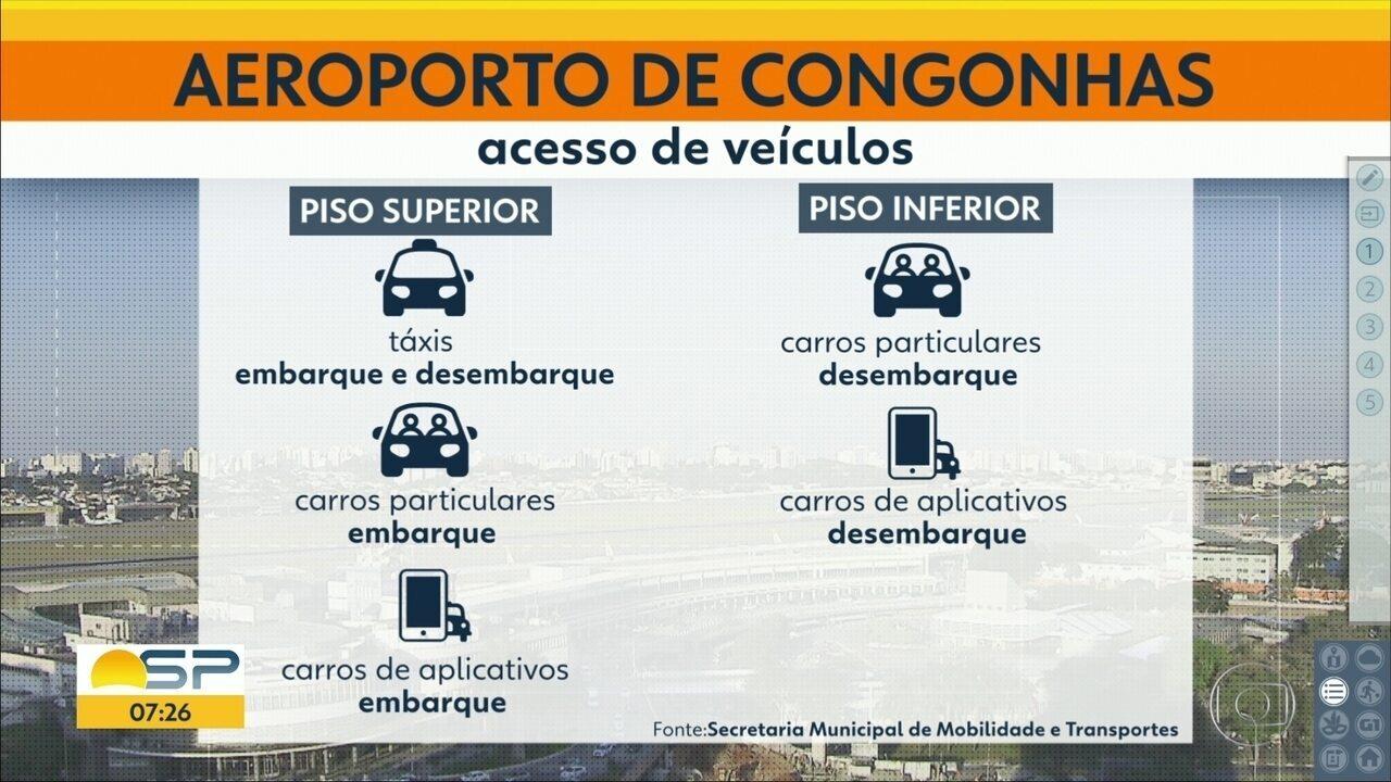 Prefeitura muda acesso de táxis ao aeroporto de Congonhas