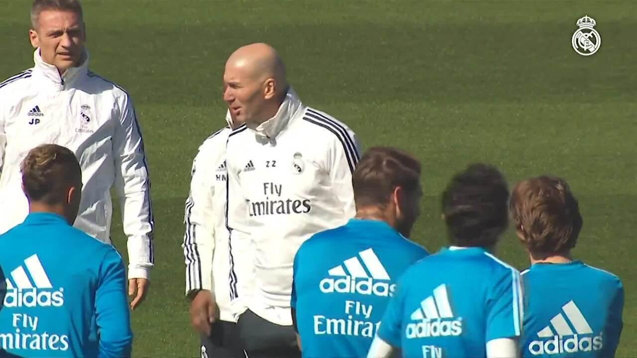 Zidane comanda primeiro treino após retorno ao Real Madrid