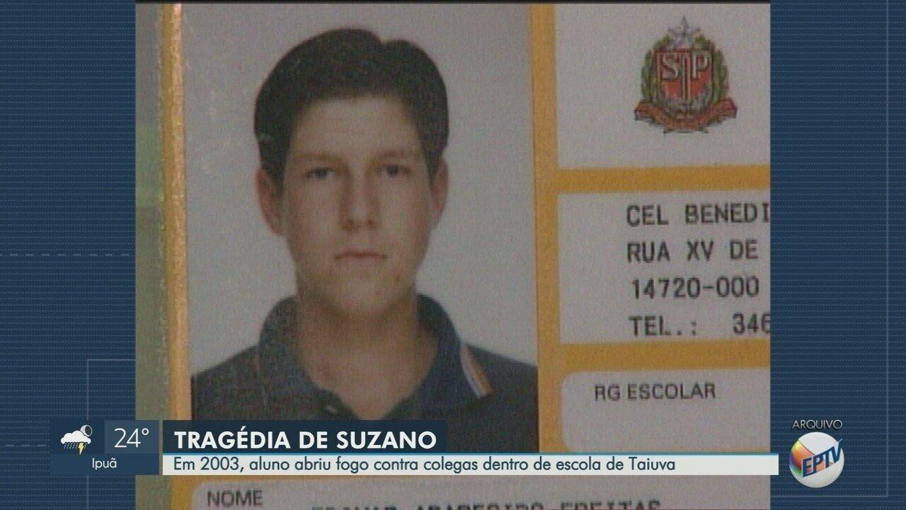 Em 2003, aluno abriu fogo contra colegas dentro de escola em Taiúva, SP