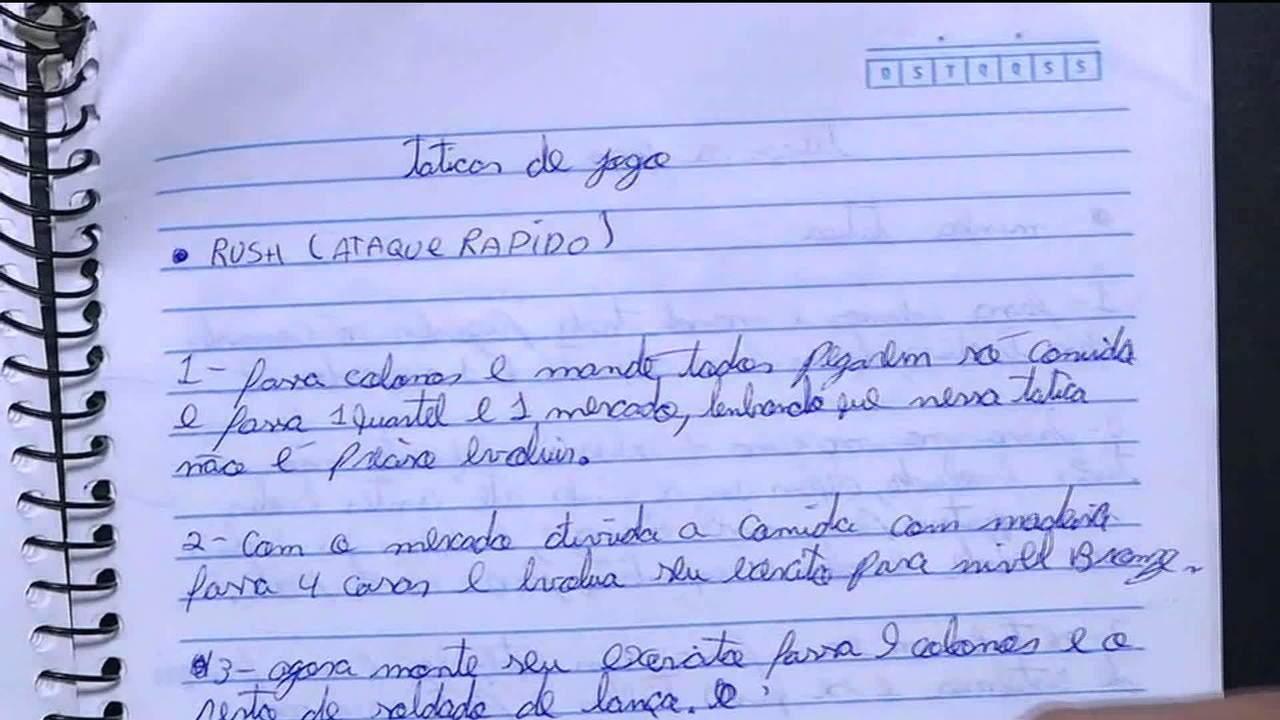 Caderno com táticas de jogo de combate é apreendido no carro dos assassinos de Suzano