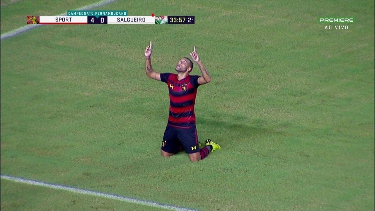 Contra o Salgueiro, Guilherme esbanjou categoria para fechar a goleada em 4 a 0