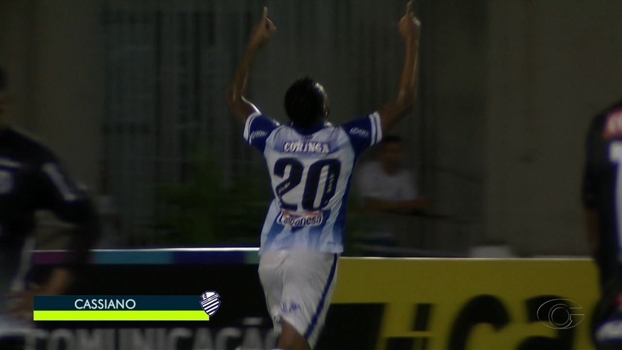 Gooolll do CSA!!! Cassiano empata o placar, aos 48' do 1º tempo