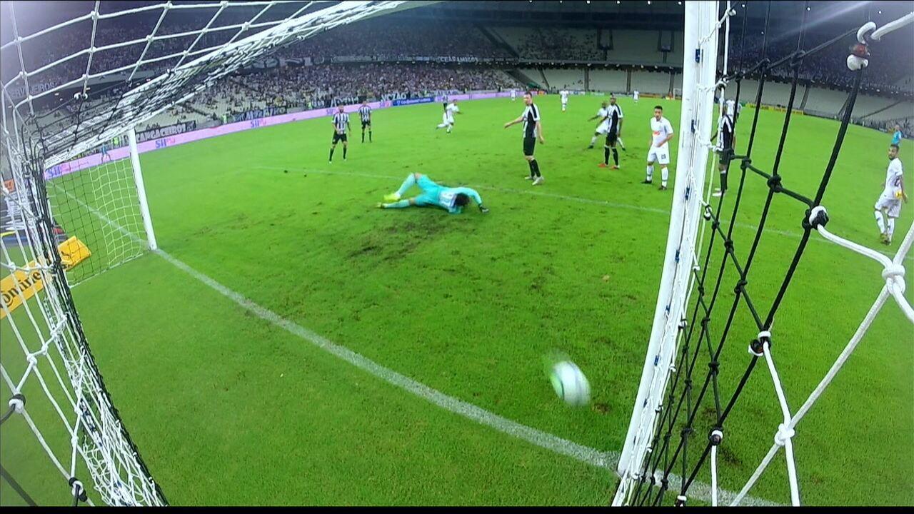 Os gols de Ceará 1 x 3 Corinthians pela Copa do Brasil