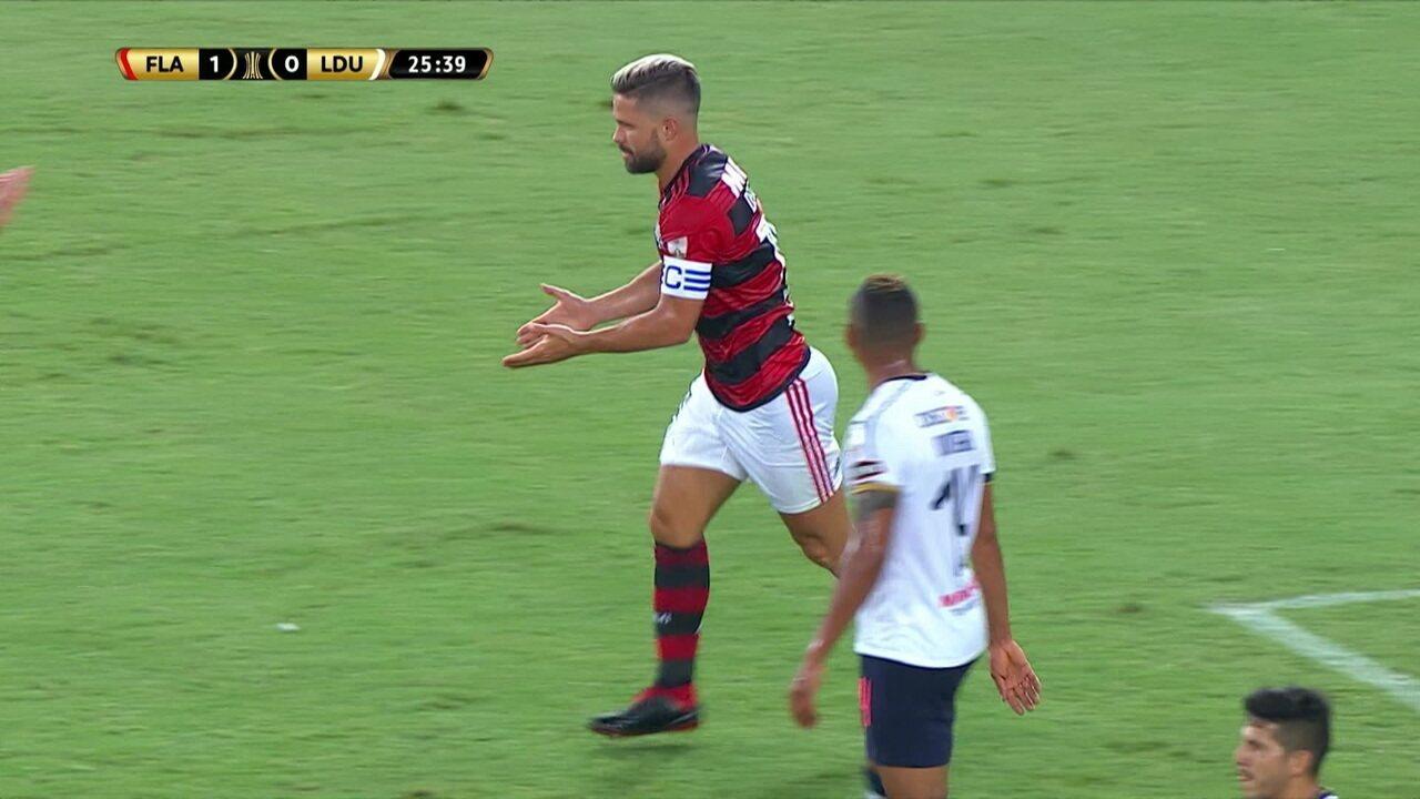 Comentaristas analisam desempenho de Diego em partida contra a LDU