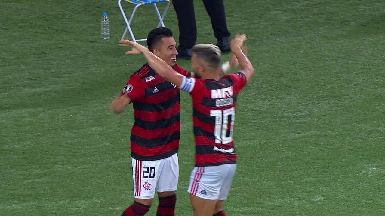 Os gols de Flamengo 3 x 1 LDU pela Taça Libertadores 2019