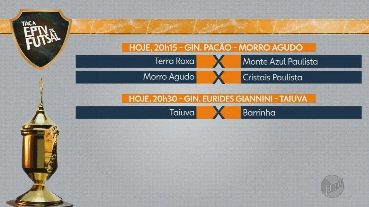 Confira a tabela de jogos da Taça EPTV de Futsal