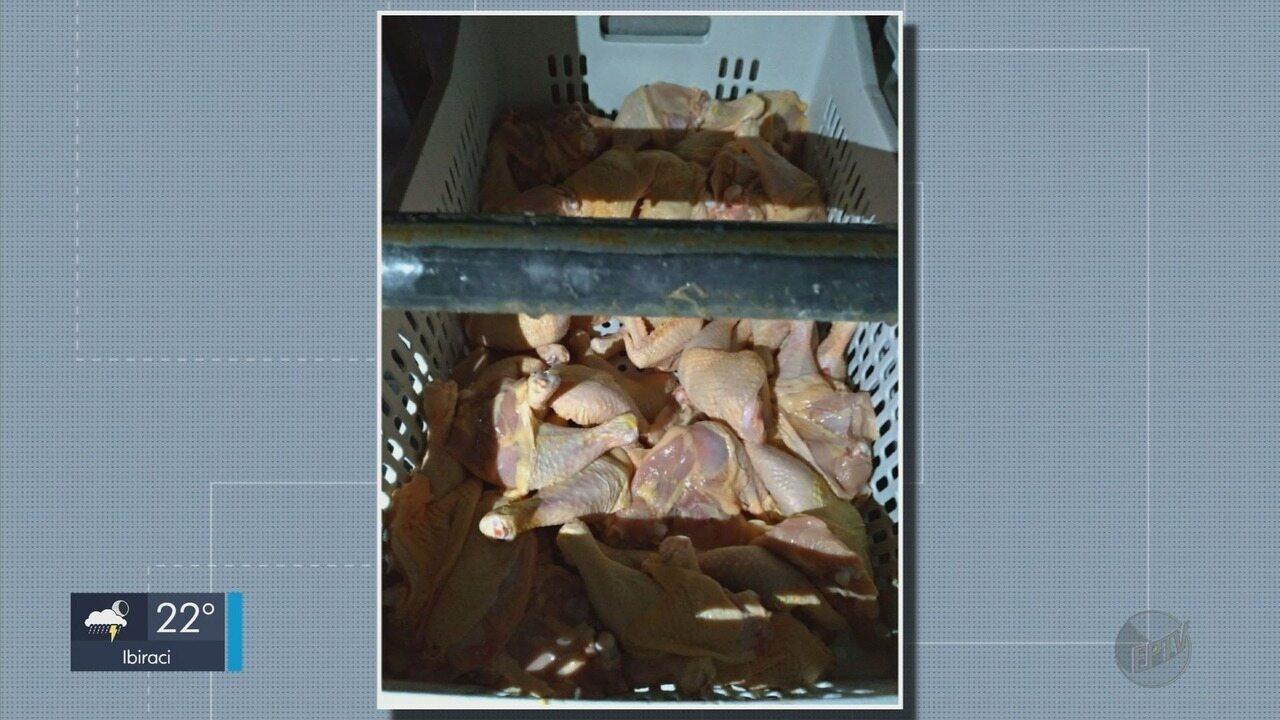 IMA apreende 1,5 tonelada de carne de frango na zona rural de Santa Rita do Sapucaí