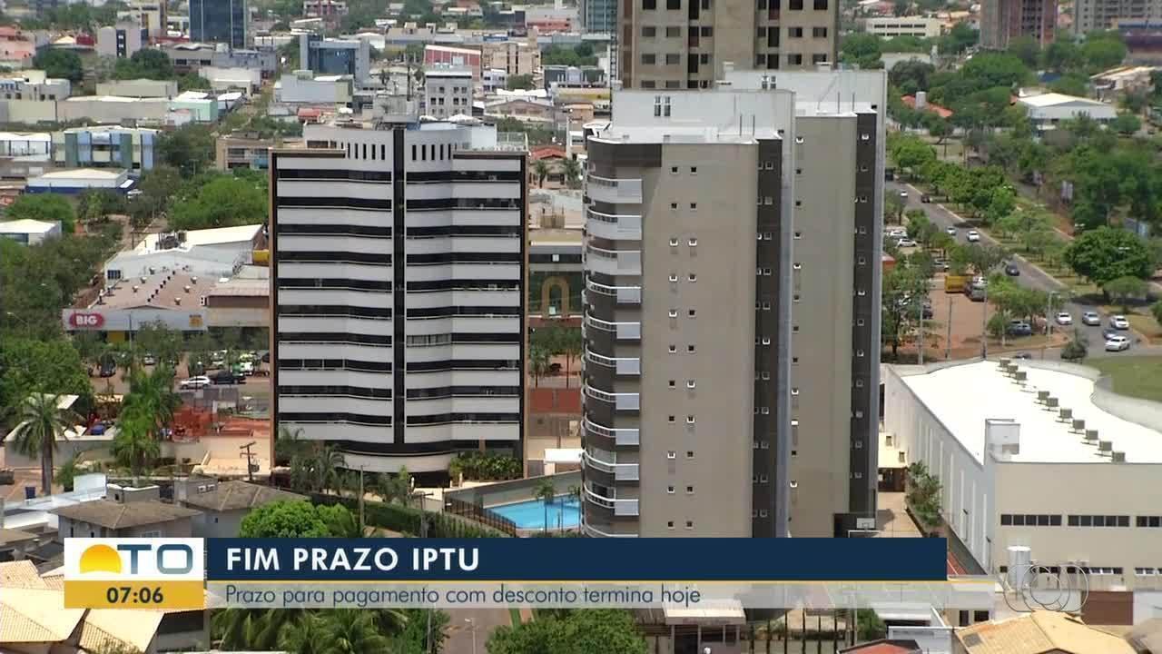 Contribuintes têm até esta sexta-feira para pagar o IPTU de Palmas com 10% de desconto