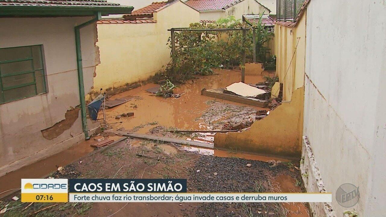 Temporal causa estrago e Prefeitura de São Simão, SP, decreta estado de calamidade público