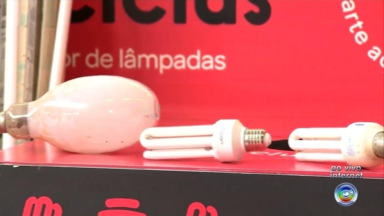 Postos de coleta de lâmpadas velhas são instalados em Jundiaí