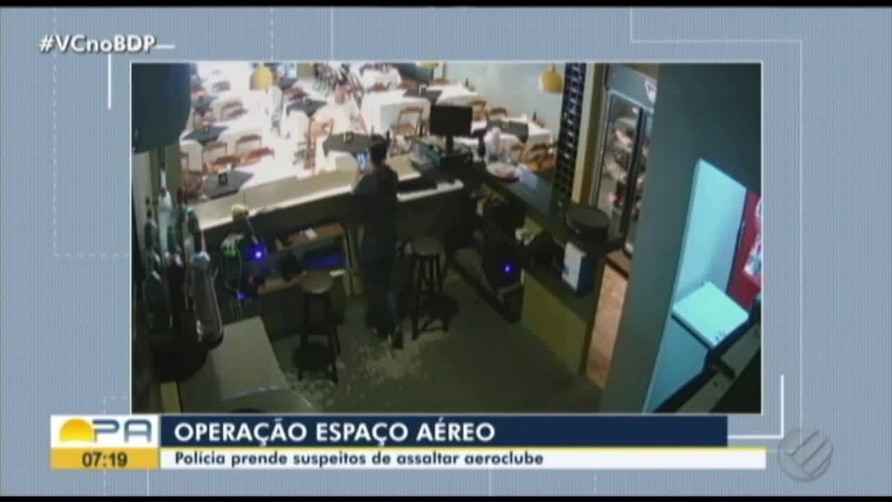 Polícia prende homem suspeito de participação em assalto ao Aeroclube do Pará