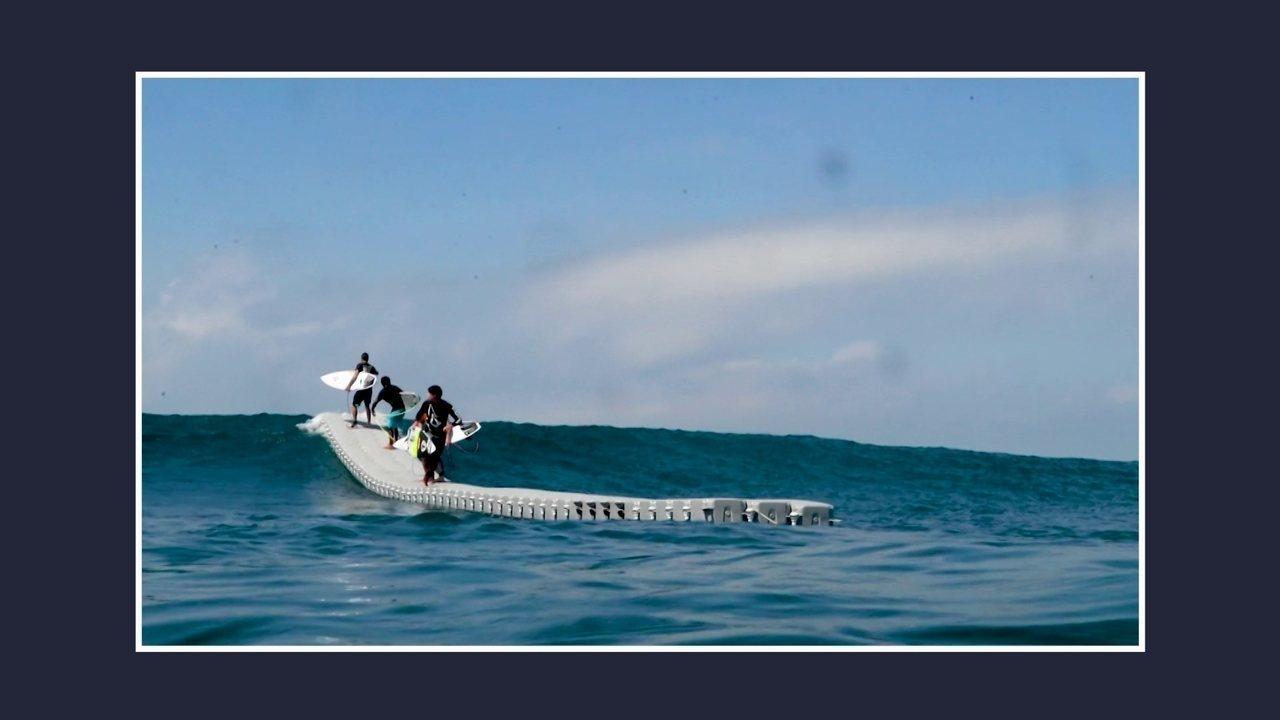 Deck flutuante pode ser usado no mar, rios e lagos