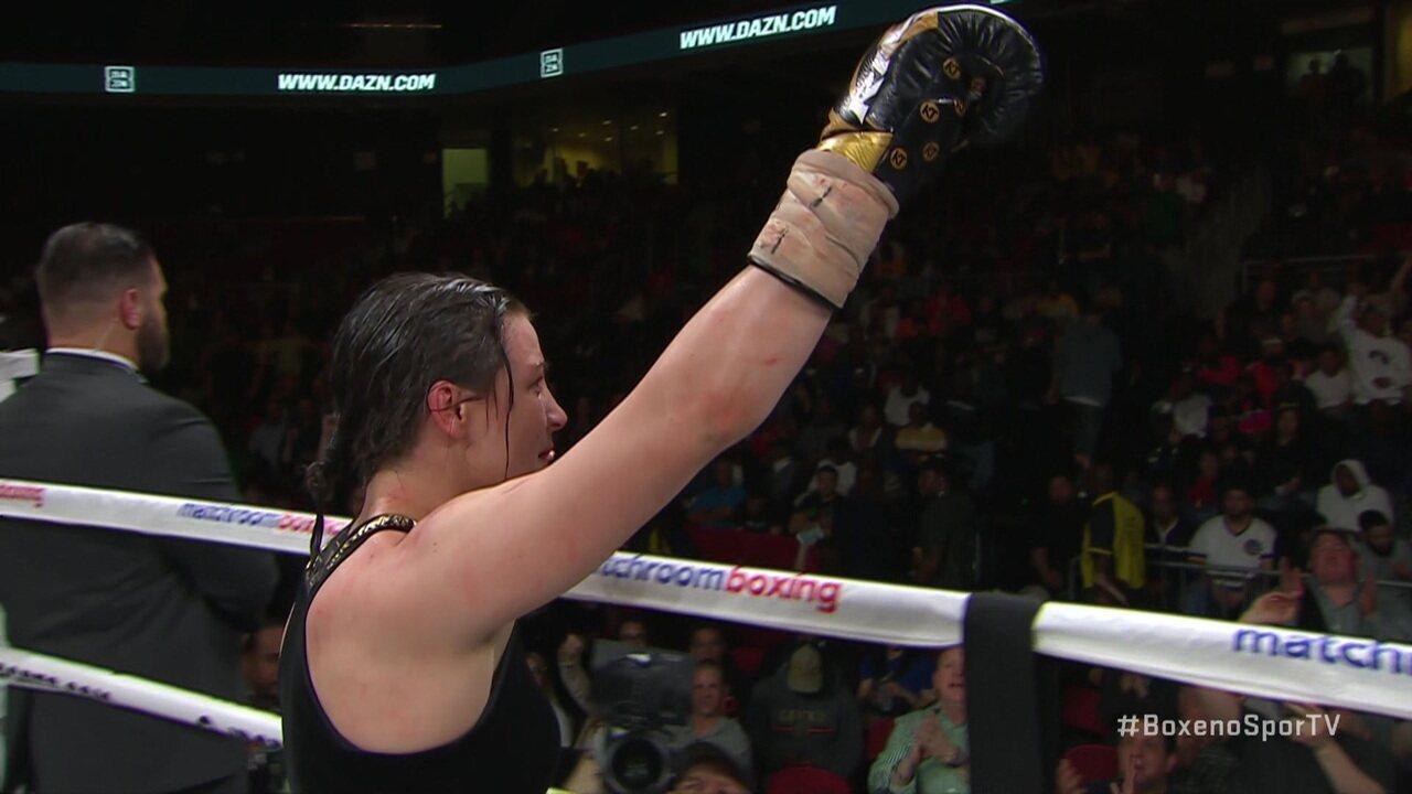 Rose Volante perde por nocaute técnico para Katie Taylor