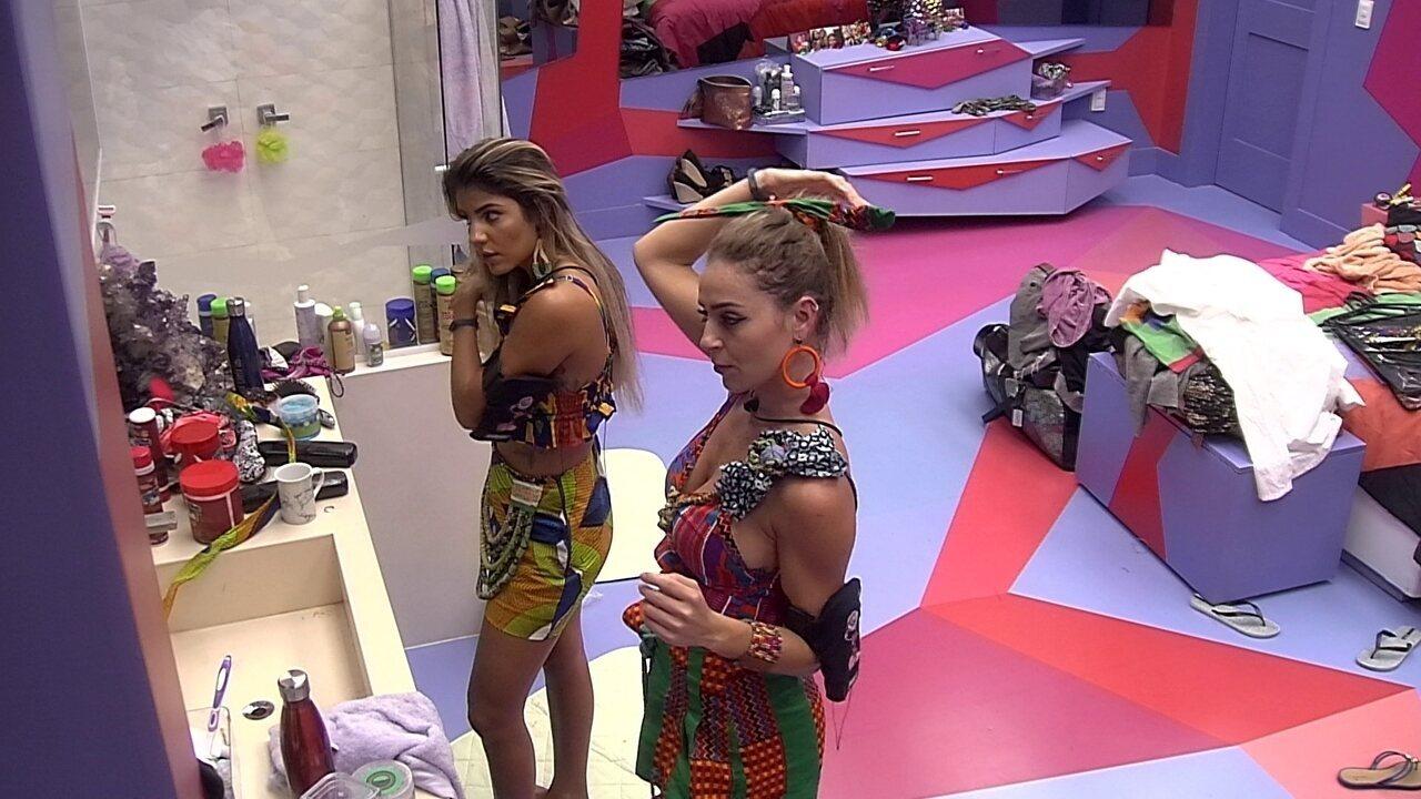 Conversa vira discussão e Paula diz para Hariany: 'Deixa de ser hipócrita'