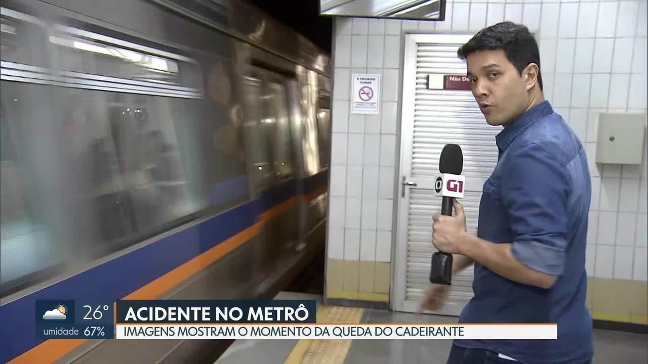 Resultado de imagem para Imagens do Metrô mostram o cadeirante antes do acidente