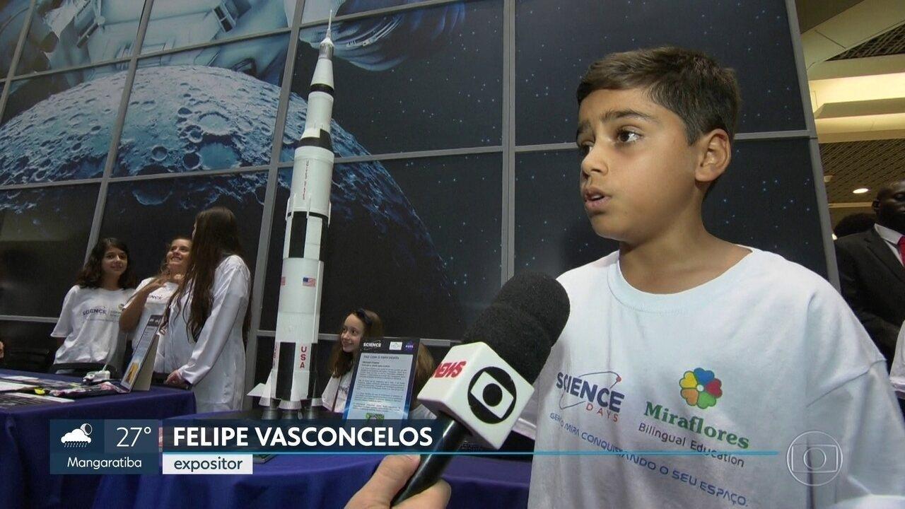 Exposição leva os visitantes para o mundo da lua, na Barra da Tijuca