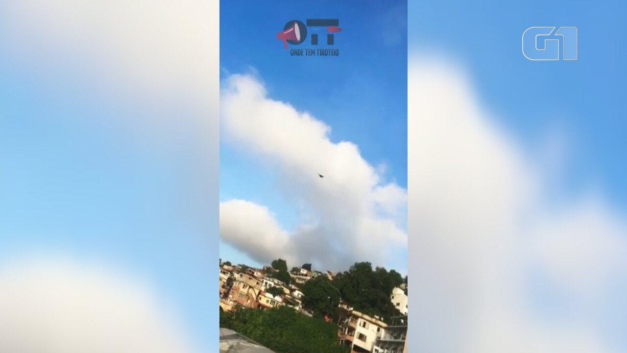 Moradores registram tiros no Morro Chapéu Mangueira e no Fallet/Fogueteiro