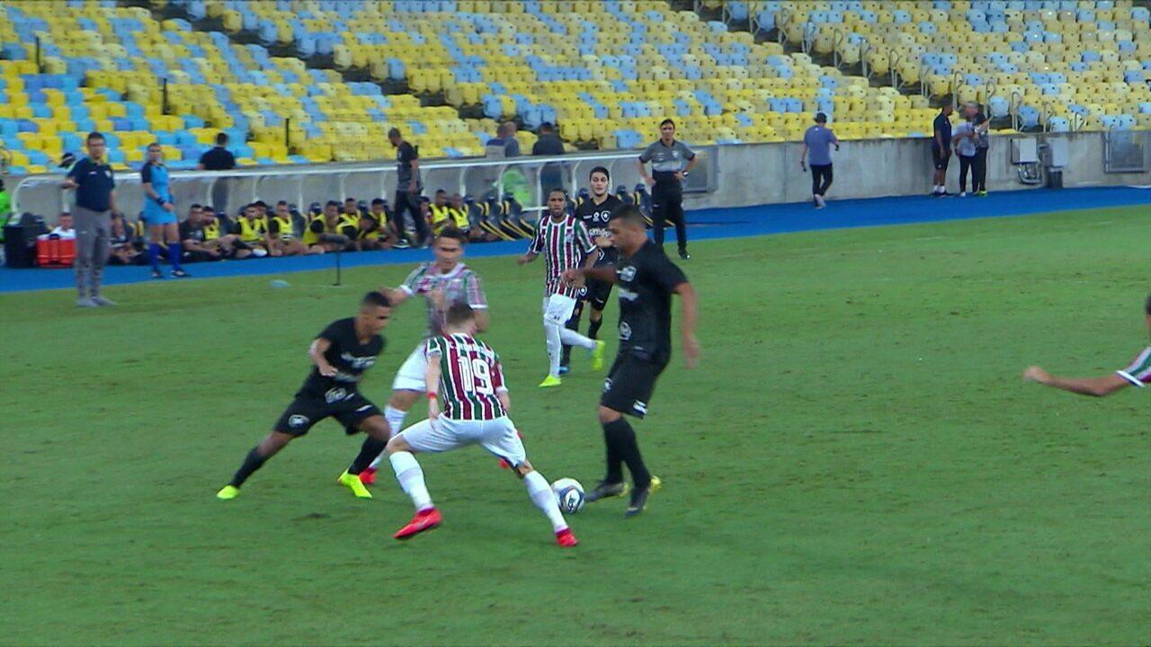 Os gols de Fluminense 1 x 1 Botafogo pela 4ª rodada da Taça Rio 2019