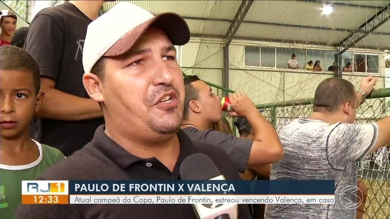Atual campeã, Paulo de Frontin estreia vencendo Valença em casa por 5x2