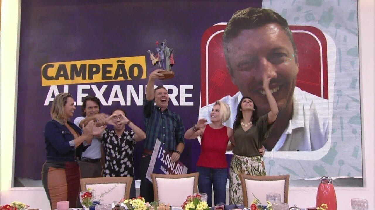 Alexandre é o campeão pelo voto popular do Jogo de Panelas