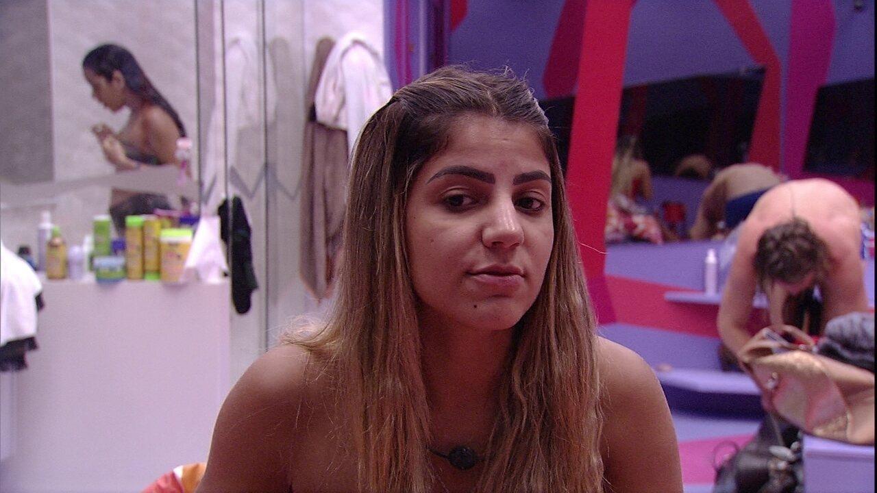 Hariany avisa a Paula sobre Paredão: 'Eu sobrevivi. Só faltam vocês'