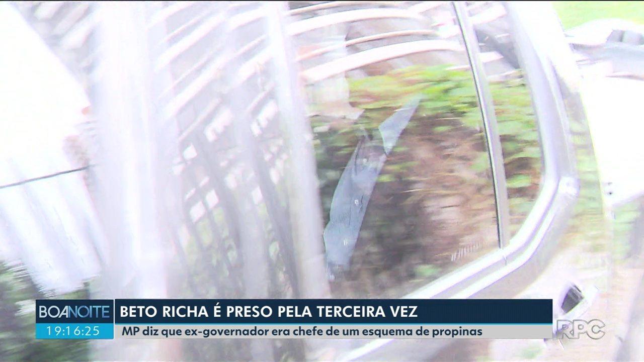 Beto Richa é preso pela terceira vez em seis meses