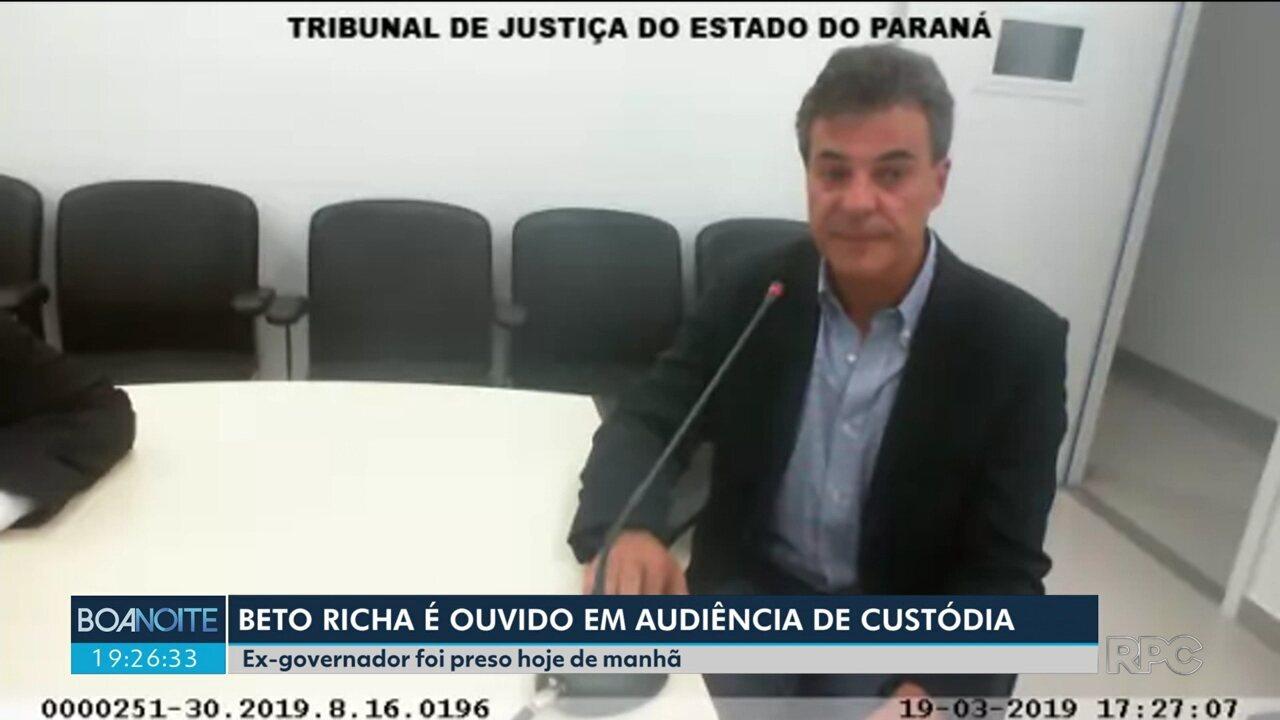Beto Richa é ouvido em audiência de custódia
