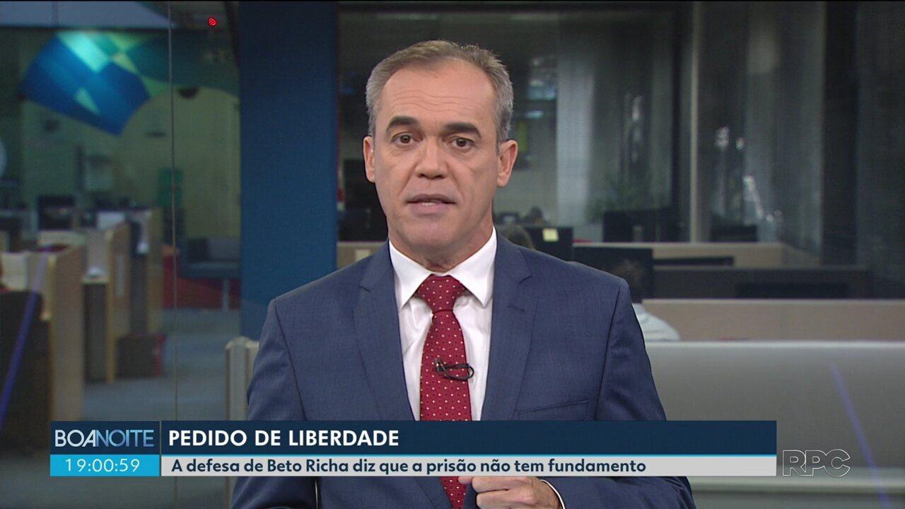Defesa de Beto Richa entra com pedido de liberdade para o ex-governador